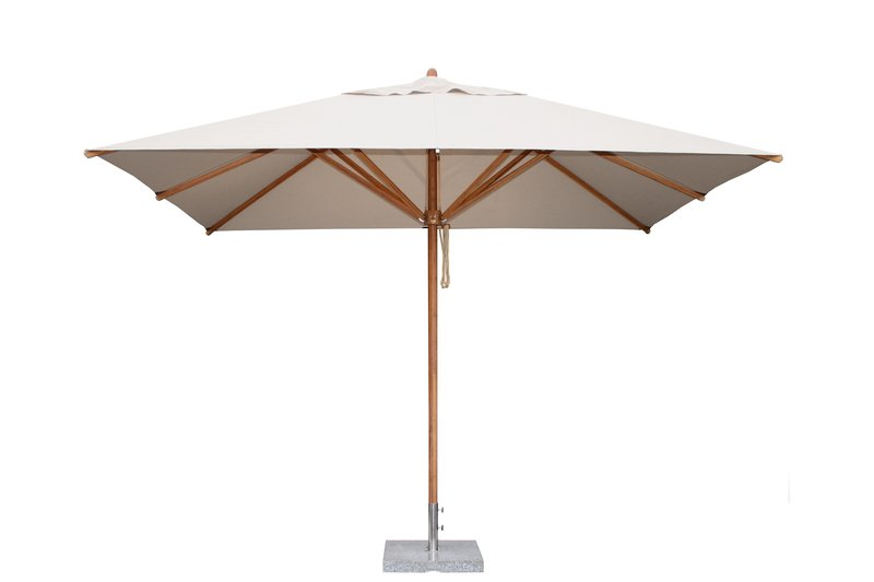 Levante 2.5 x 3.5m Natural Square Rectangular Parasol
