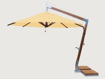 Side Wind 3.5m Harvest Wheat Round Parasol