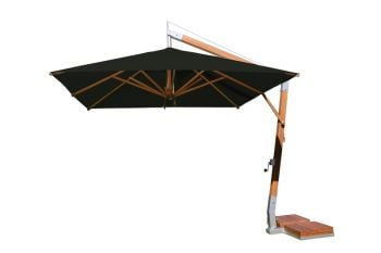 Side Wind 3.0m Black Square Parasol