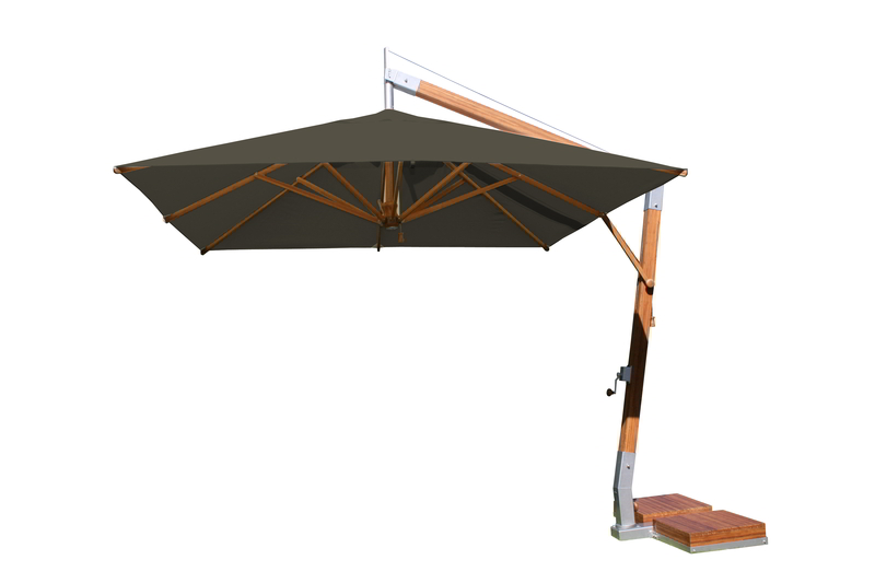 Side Wind 3.0m Taupe Square Parasol