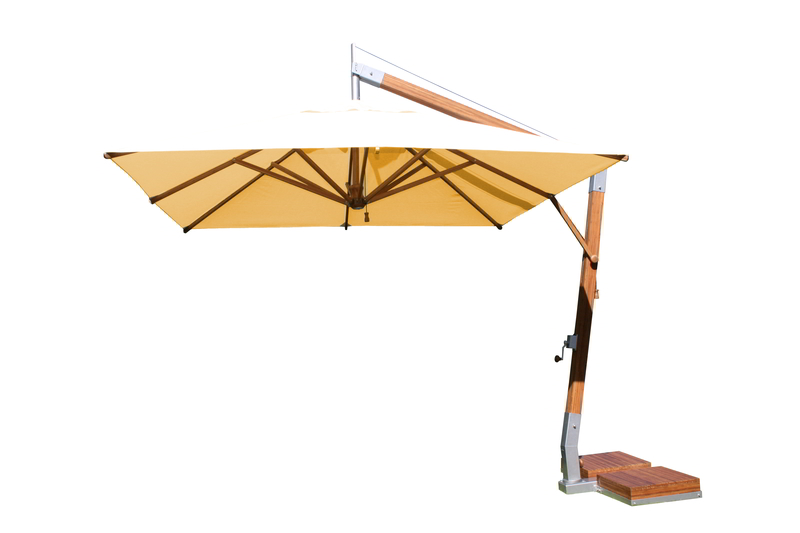 Side Wind 3.0m x 4.0m Ecru Rectangular Parasol