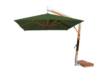 Side Wind 3.0m x 4.0m Forest Green Rectangular Parasol