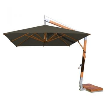 Side Wind 3.0m x 4.0m Taupe Rectangular Parasol