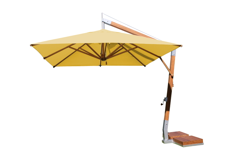 Side Wind 3.0m x 4.0m Harvest Wheat  Rectangular Parasol