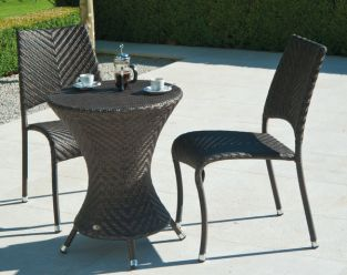 Ocean Wave Bistro Set with 2 Chairs