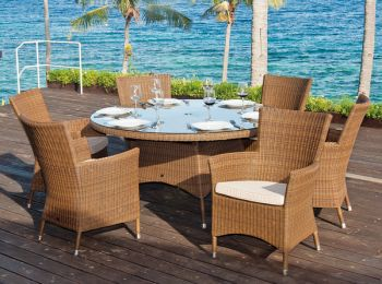 San Marino Furniture Set with Six Armchairs