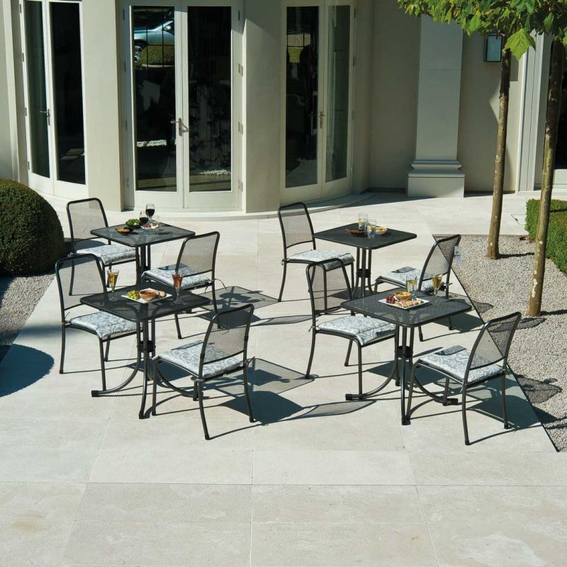 Portofino Square Bistro Set with Cushions