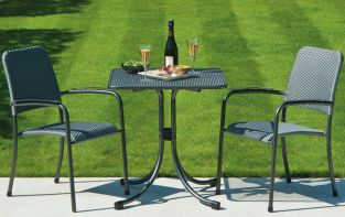 Portofino Bistro Set with Armchairs