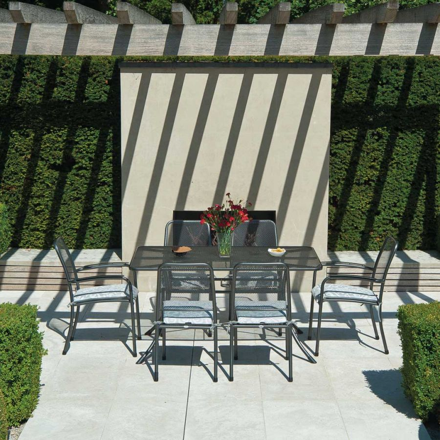 Portofino Dining Set with 6 Woven Chairs