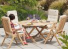 Roble Bengal 4 Seater Furniture Set with Parasol and Base