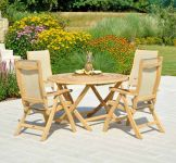 Robe Bengal Table and Synthetic Recliner Set