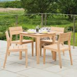 Tivoli Square Cafe Table with 4 Dining Side Chairs