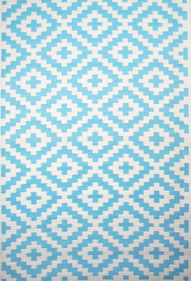 Outdoor Rug Nirvana Aqua Sky and White (120 cm x 180 cm)