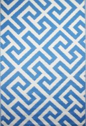 Outdoor Rug Picket Fence Blue (120 cm x 180 cm)
