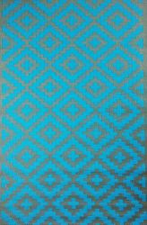 Outdoor Rug Nirvana Blue Turquoise and Grey (120 cm x 180 cm)