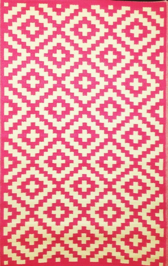Outdoor Rug Nirvana Pink and Cream (120 cm x 180 cm)