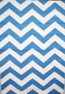 Outdoor Rug Psychedelia Blue and White (120 cm X 180 cm)