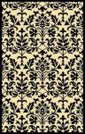 Outdoor Rug Springtime Black and Cream (150 cm x 240 cm)