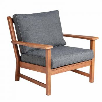 Alexander Rose Cornis Broadfield Lounge Armchair with Grey Cushion