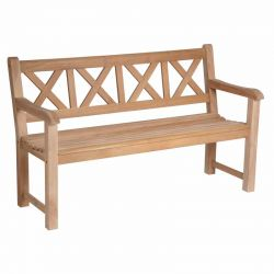 5ft Mahogany Drachmann Bench by Alexander Rose