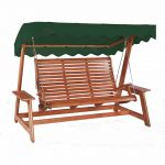 Alexander Rose Mahogany 2.2m (7ft 3½in) Green Canopy Swing Seat