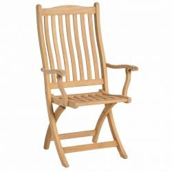 Roble Folding Carver Chair by Alexander Rose