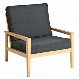 Roble Lounge Chair with Charcoal Cushions by Alexander Rose
