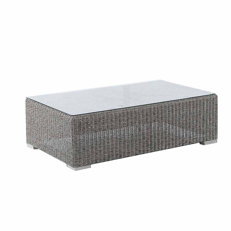 Alexander Rose Monte Carlo 1m (3ft 3¼in) Grey Rattan Glass Topped Rectangular Coffee Table