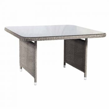 Alexander Rose Monte Carlo 1.3m (4ft 3in) Grey Rattan Square Dining Table