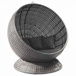 Alexander Rose Monte Carlo Grey Rattan Hanging Ball Chair