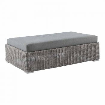 Alexander Rose Monte Carlo Grey Rattan Ottoman with Cushion