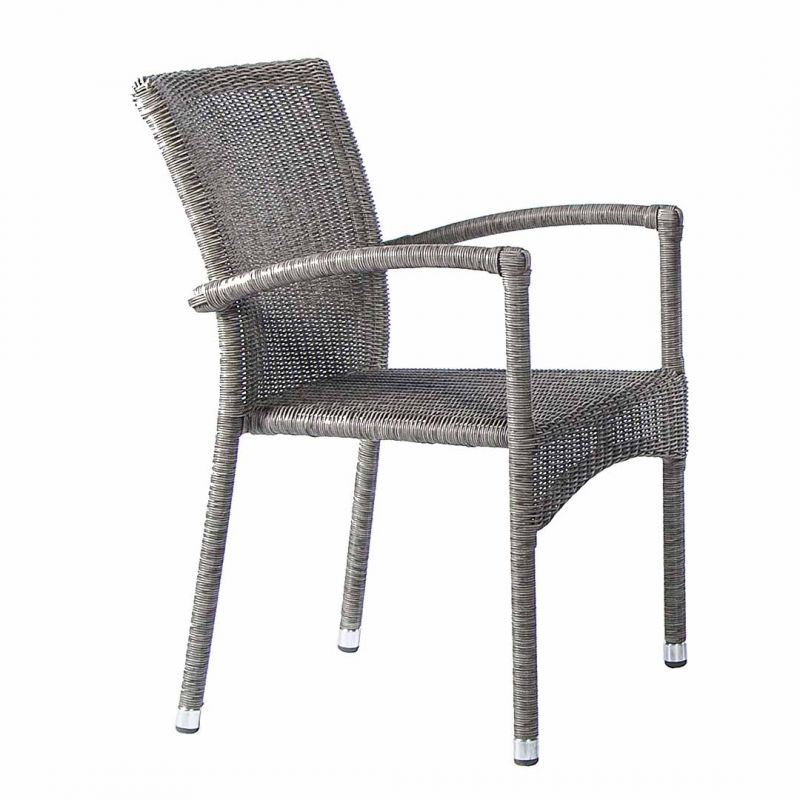 Alexander Rose Monte Carlo Grey Rattan Stacking Armchair