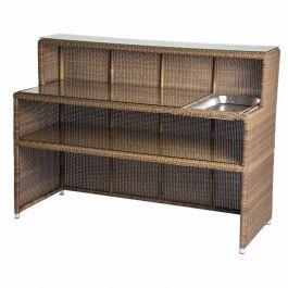 Alexander Rose San Marino Light Brown Rattan Serving Bar