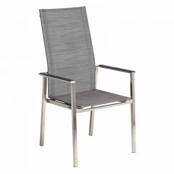 Alexander Rose Cologne Mixed Grey Stacking Recliner
