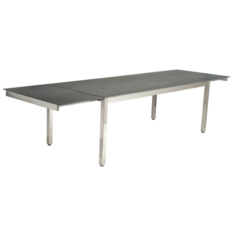 Alexander Rose Cologne 3.1m (10ft 2in) Dark Grey Ceramic Extending Rectangular Table