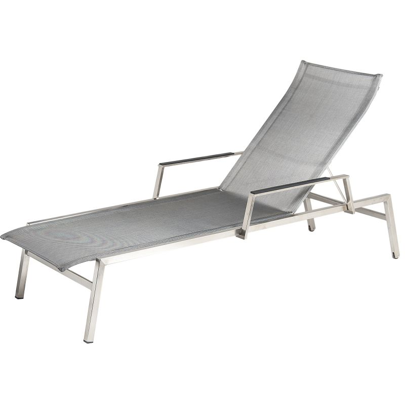 Alexander Rose Cologne 2m (6ft 7in) Mixed Grey Adjustable Sunbed