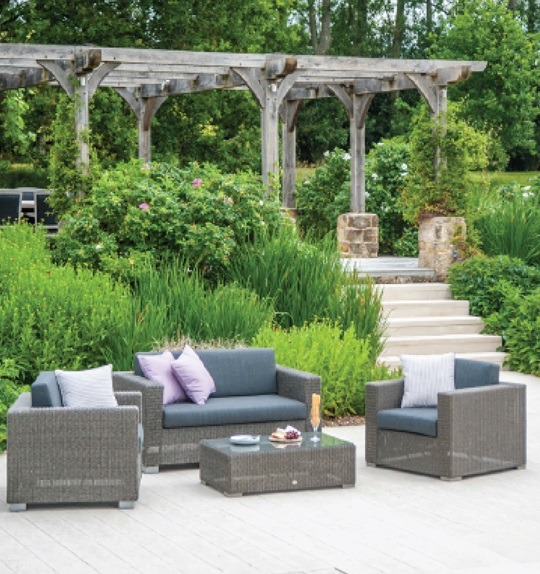 Alexander Rose Monte Carlo 4 Seater Grey Rattan Sofa Set