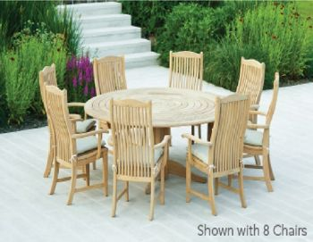 Alexander Rose Roble 6 Seater Round Dining Set
