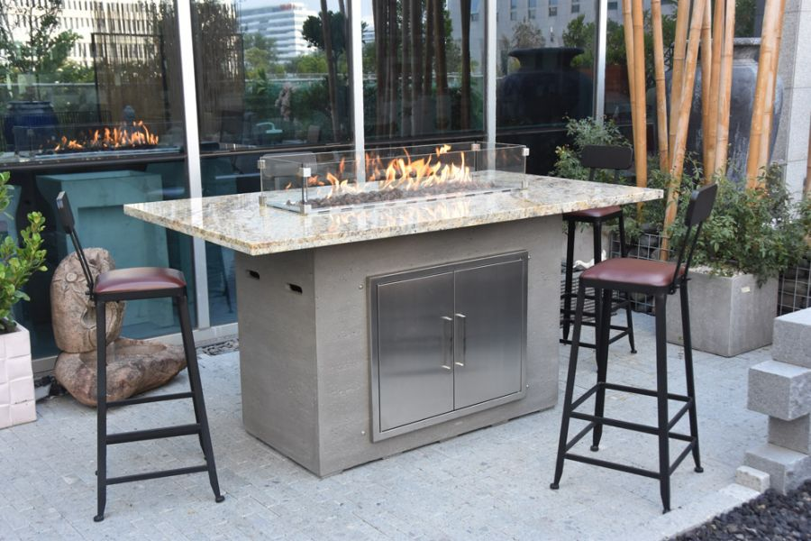 105cm Himalaya Fire Pit Two Seater Bar Table