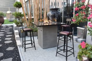 105cm Alps Fire Pit Four Seater Bar Table
