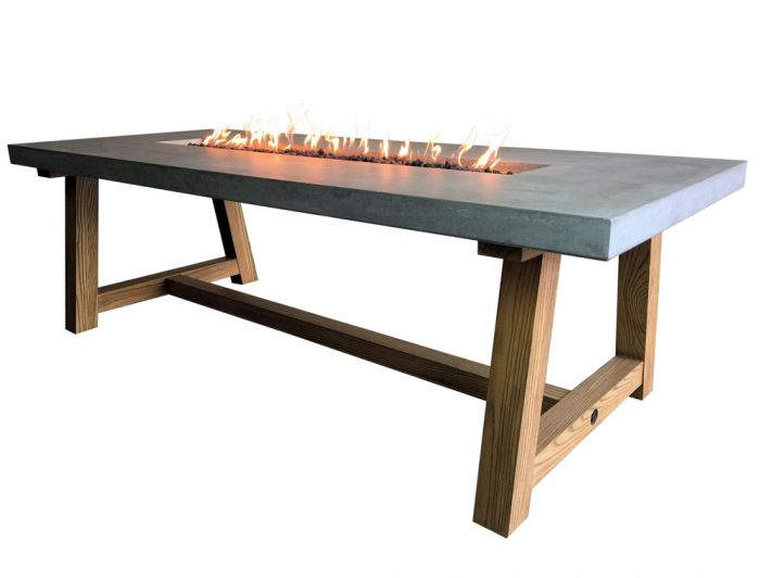 100cm Sonoma Fire Pit Dining Table