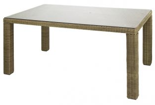 Alexander Rose Monte Carlo 170cm Rattan Garden Table with Glass Top