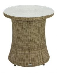 Alexander Rose Monte Carlo 60cm Rattan Garden Bistro Table with Glass Top