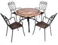 Monaco Dining Table with 4 Verona Chairs