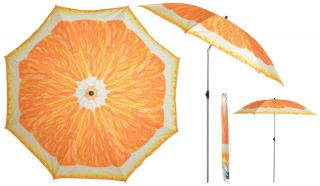 2.26m (7ft 4 in) Steel Orange Parasol