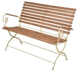132 cm (1ft) Outdoor Folding Bench , Cream