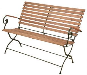 132 cm (1ft) Outdoor Folding Bench , Green