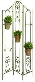 68 cm (2ft 2in ) Aged Metal Screen Plant Holder, Green