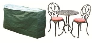Bosmere 124cm x 63cm Protector 2 Seater Green Bistro Set Garden Furniture Cover