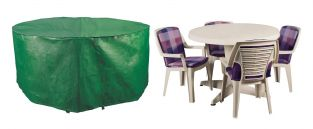 Bosmere Protector 163cm 4 Seater Green Patio Set Garden Furniture Cover